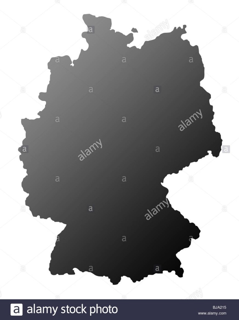 Germany Map Black And White Stock Photos & Images - Alamy inside Germany Map Black And White