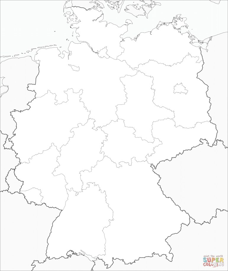 Germany Map Coloring Page | Free Printable Coloring Pages throughout Germany Map Coloring Page