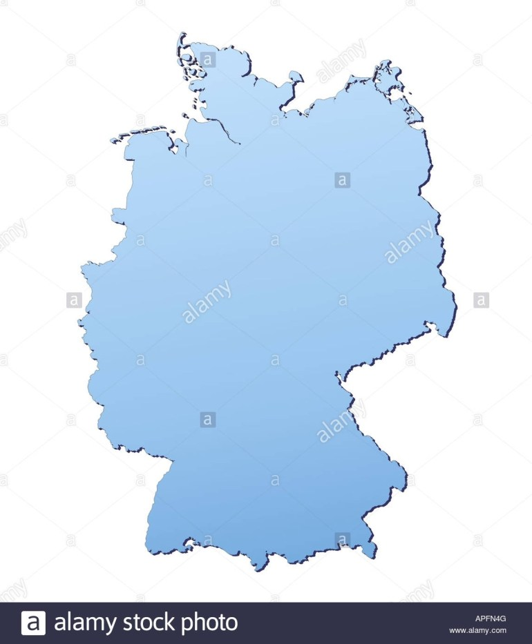 Germany Map Filled With Light Blue Gradient High Resolution Mercator inside Germany Map High Resolution