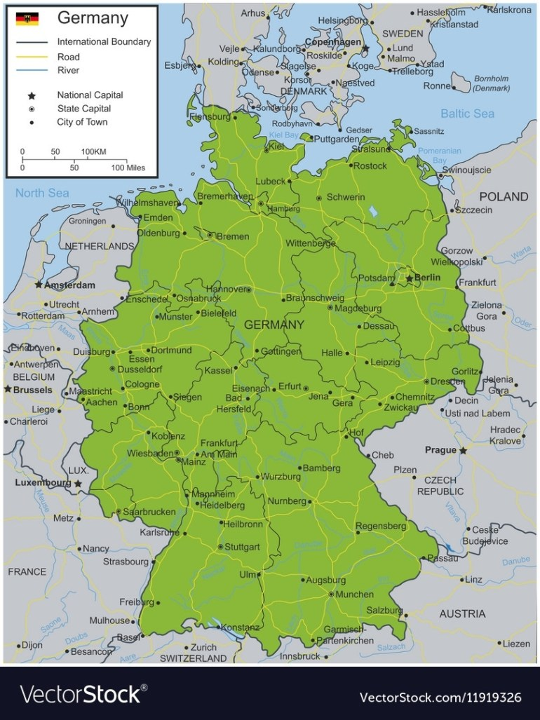 Germany Map With Selectable Territories regarding Germany Map High Resolution