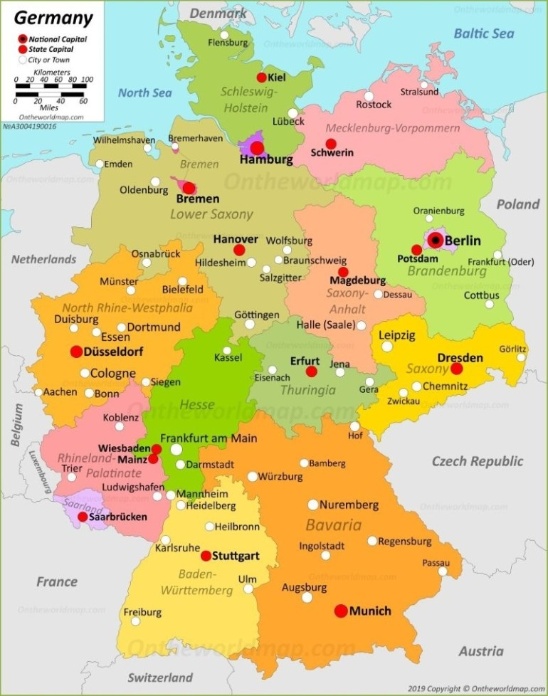 Germany Maps | Maps Of Germany with Germany Map States Cities