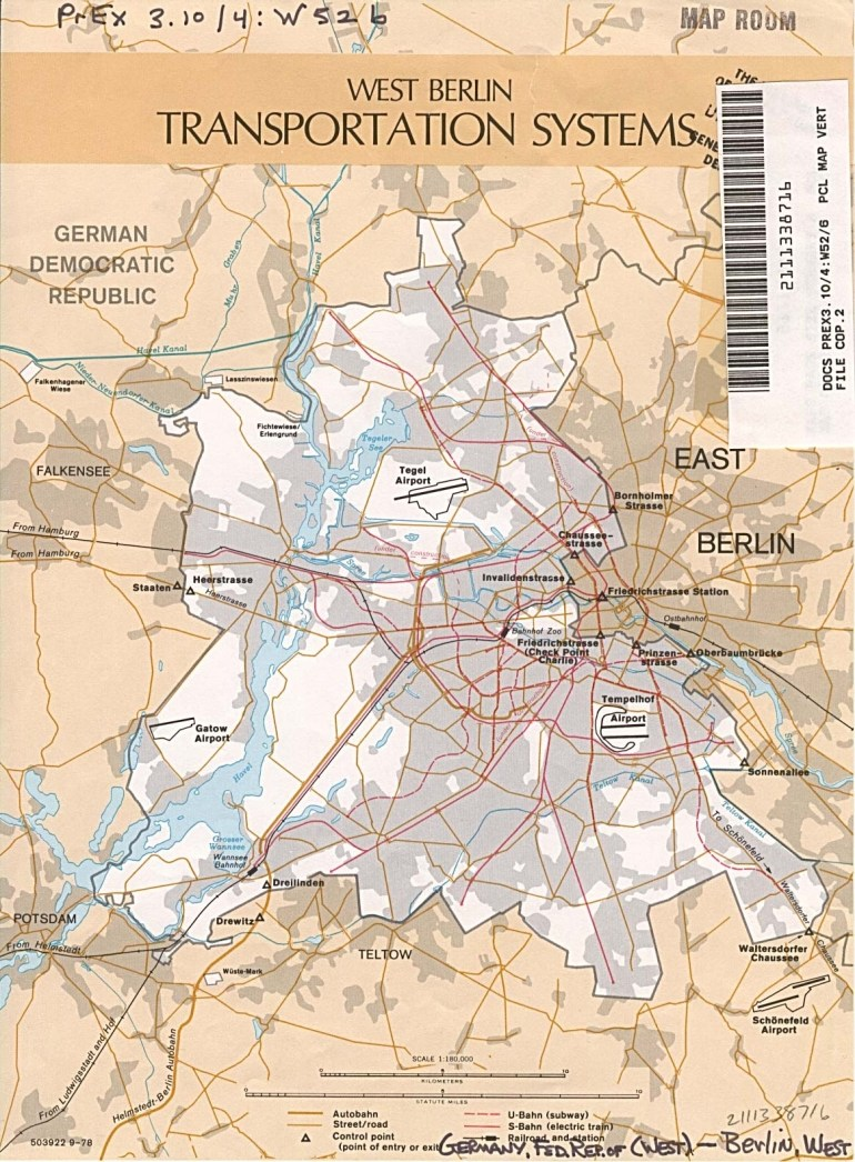 Germany Maps - Perry-Castañeda Map Collection - Ut Library Online in Map Of East Germany And Berlin