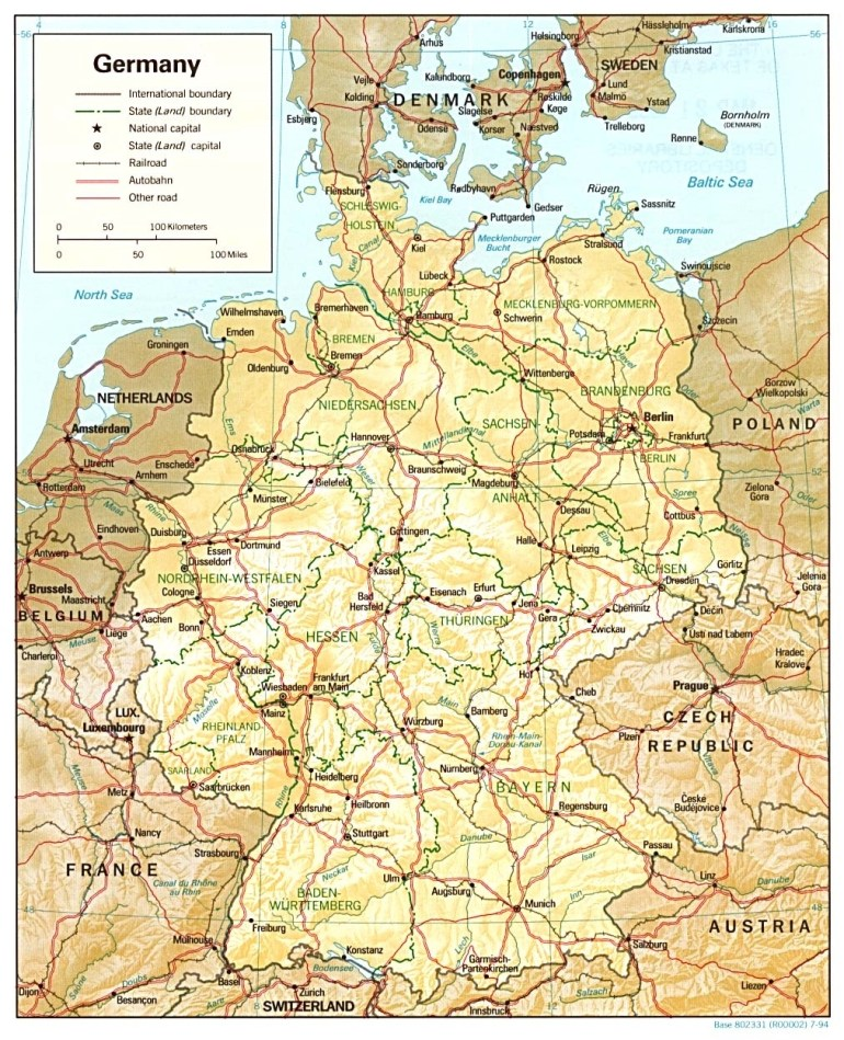 Germany Maps - Perry-Castañeda Map Collection - Ut Library Online intended for Southern Germany Map Cities