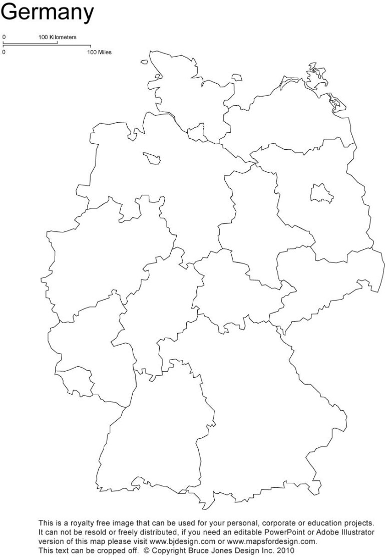 Germany Printable Blank Map, Berlin, Europe, Royalty Free inside Outline Map Of Germany And Surrounding Countries