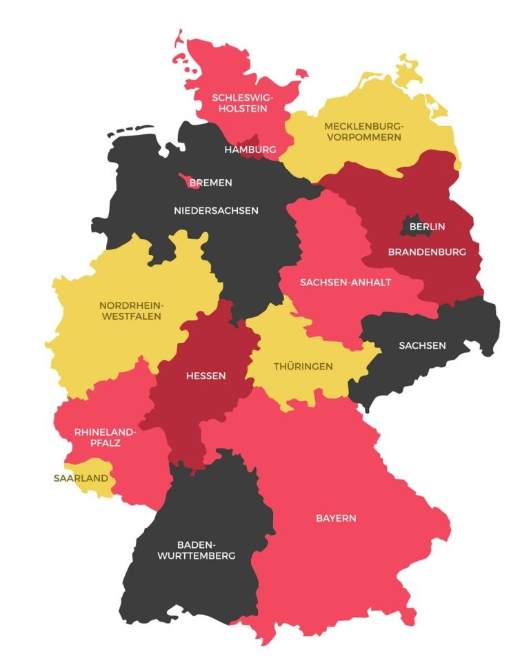 Germany States Map | Ephotopix with German States Map