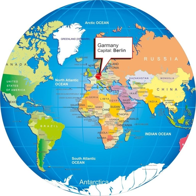 Germany With World Map On 4 - World Wide Maps regarding Germany On World Map