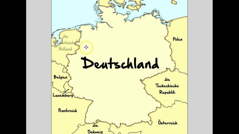 Germany's Neighboring Countries inside Germany Map With Neighbouring Countries