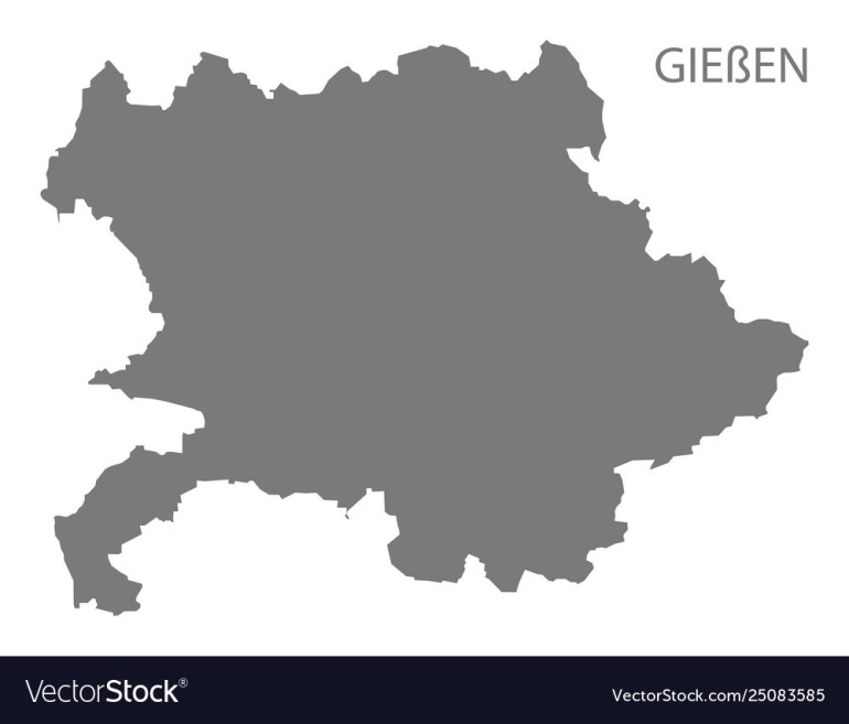 Giessen Grey County Map Hessen Germany pertaining to Giessen Germany Map