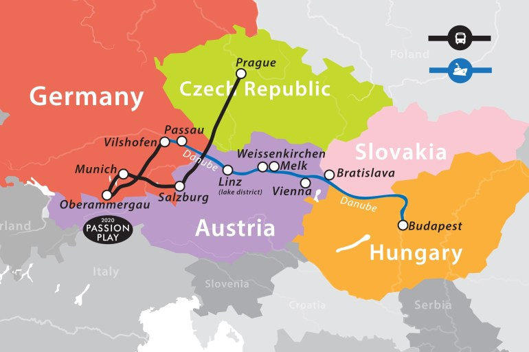 Group 9: Romantic Danube River Cruise – Prague To Budapest – Fun For pertaining to Map Of Danube River In Germany