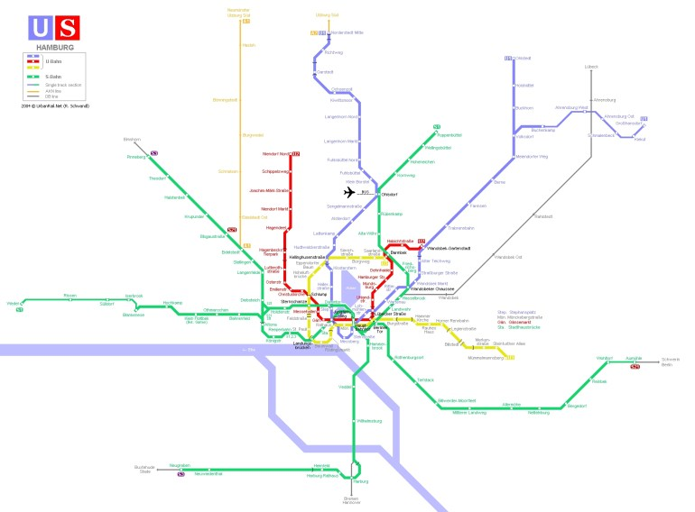 Hamburg Subway Map For Download | Metro In Hamburg - High-Resolution in Metro Map Hamburg Germany