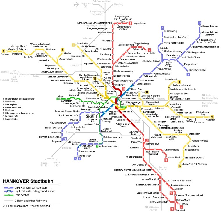 Hannover Subway Map For Download | Metro In Hannover - High for Hannover Germany Airport Map