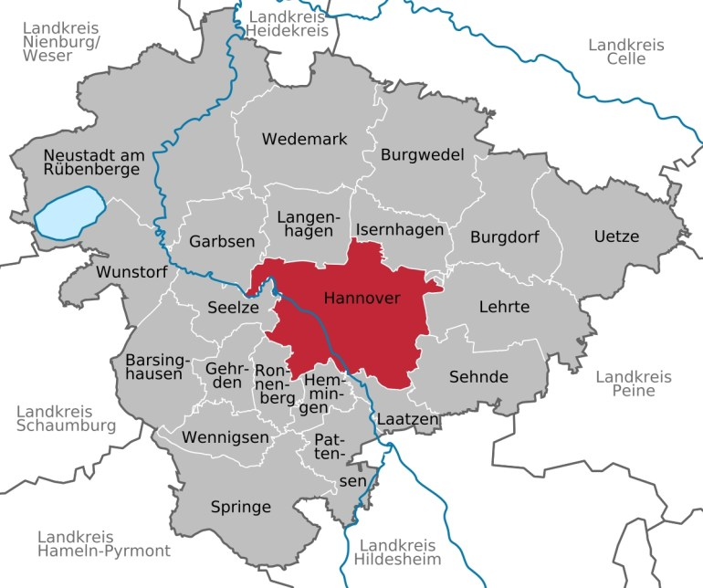 Hanover - Wikipedia inside Map Of Hannover Germany In 1850