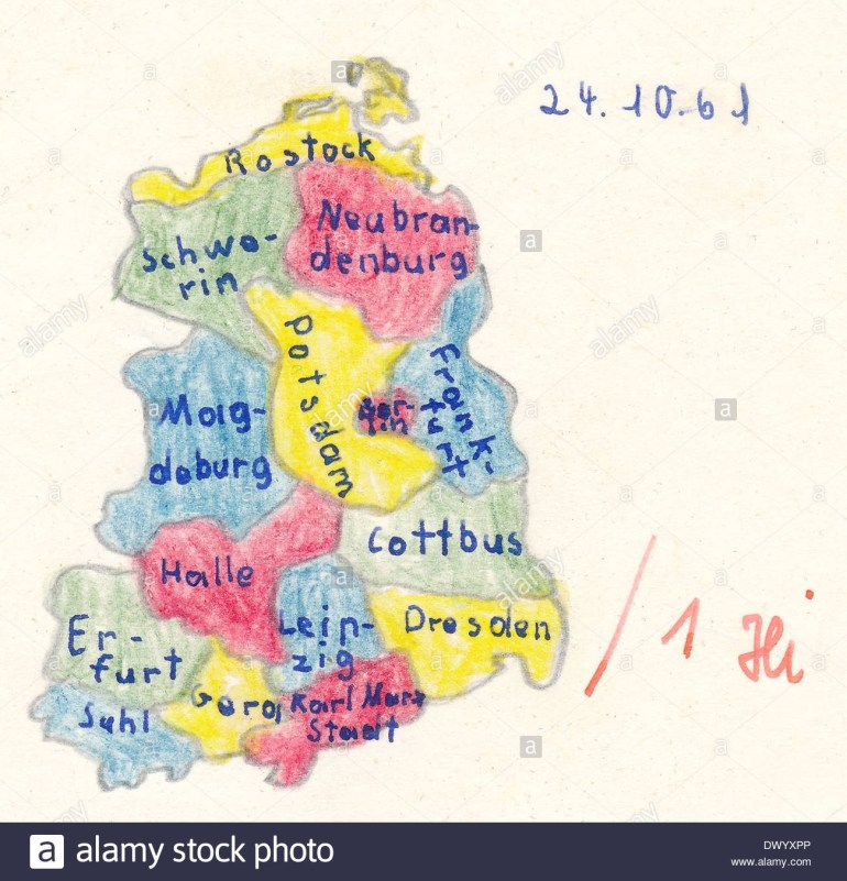 Homework For School, Historical Map Of East Germany With Main Cities in East Germany Map With Cities
