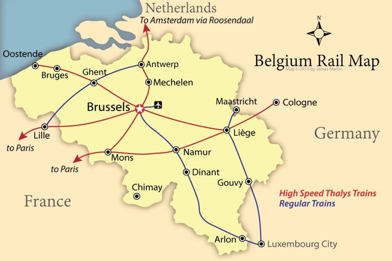 How To Get Around Belgium Like A Local pertaining to Map Of Germany Airports And Cities