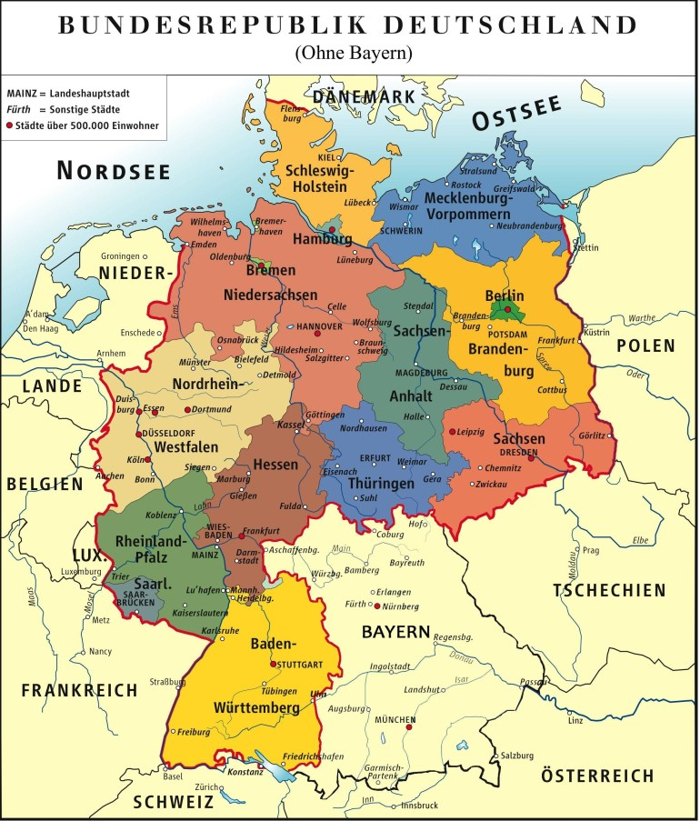 I Made A Map Of Germany Without The State Bavaria Because Their throughout Garmisch Germany Map