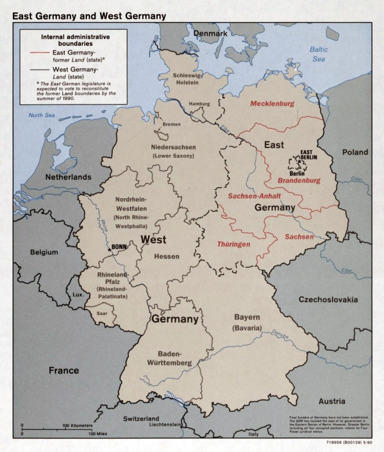 Large Detailed Political And Administrative Map Of East Germany And regarding Detailed Map Of East Germany