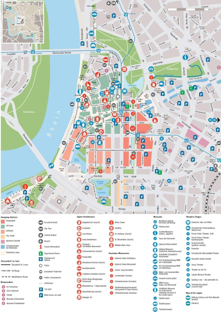 Large Dusseldorf Maps For Free Download And Print | High-Resolution with Dusseldorf Germany Map