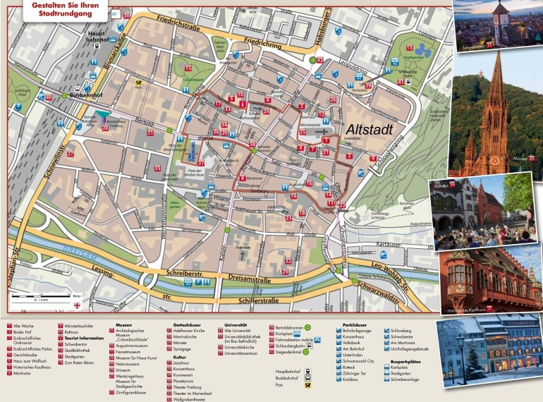 Large Freiburg Im Breisgau Maps For Free Download And Print | High for Map Of Germany Showing Freiburg