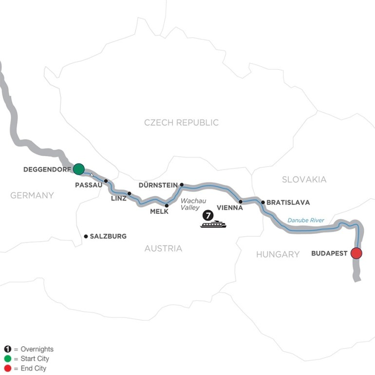 Low Unpublished Prices On Avalon Waterways - Danube Dreams - Cruise Only  Eastbound 2019 throughout Map Of Danube River In Germany