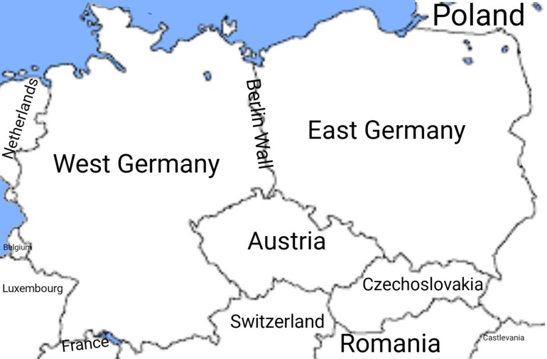 Map Of Central Europe During The Cold War : Mapporncirclejerk inside East Germany Map Cold War