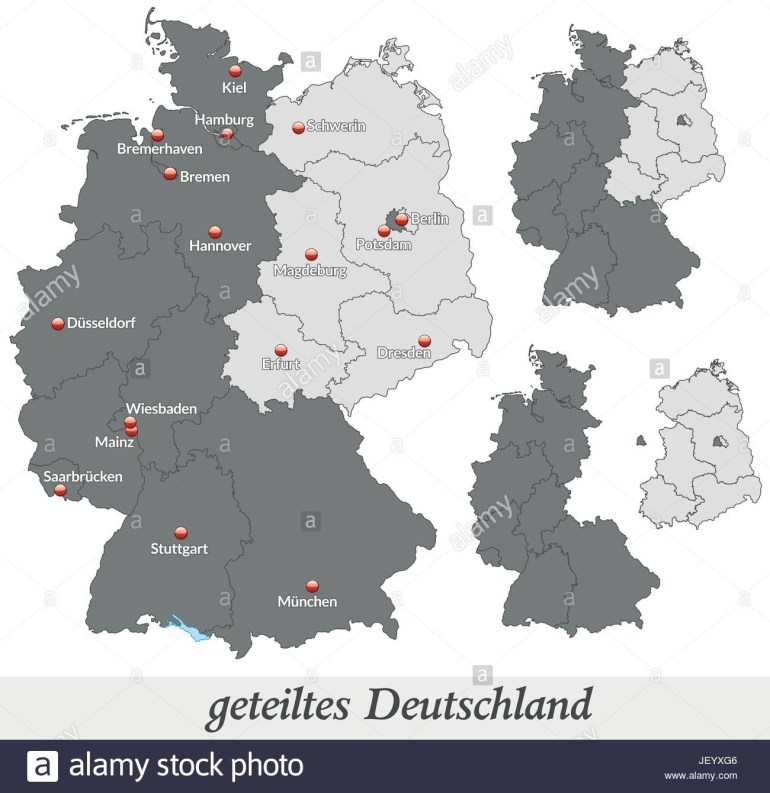 Map Of Divided Germany In Gray Stock Vector Art & Illustration with regard to Map Of Divided Germany And Berlin
