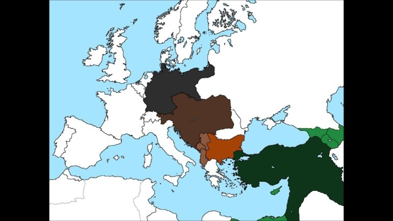 Map Of Europe If The Central Powers Won World War I regarding Map Of Germany After Ww1