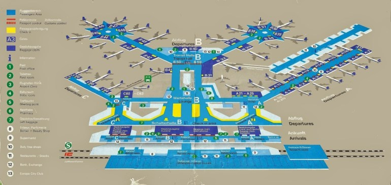 Map Of Frankfurt Airport And Travel Information | Download Free Map in Frankfurt Germany Airport Map