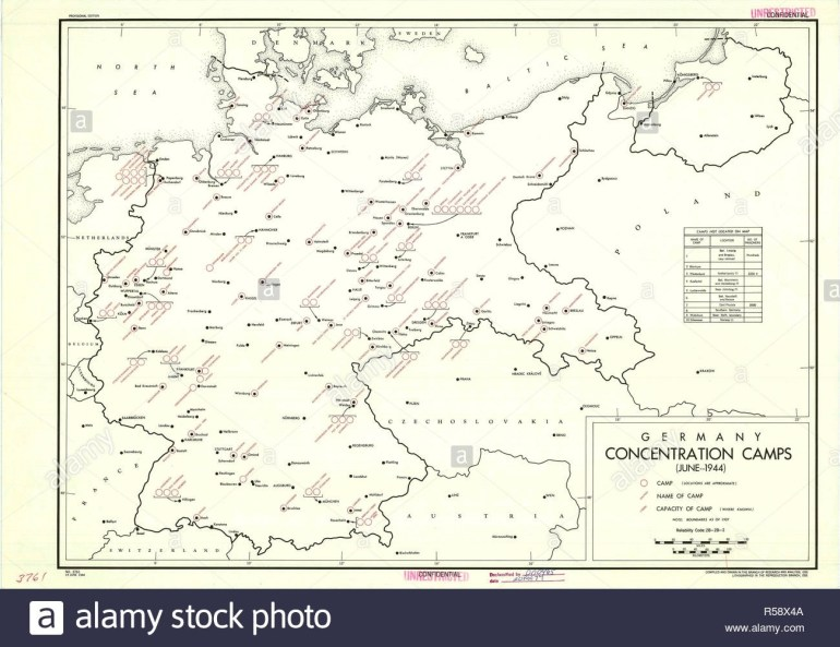 Map Of German Concentration Camps Stock Photos & Map Of German within Map Of Germany With Concentration Camps