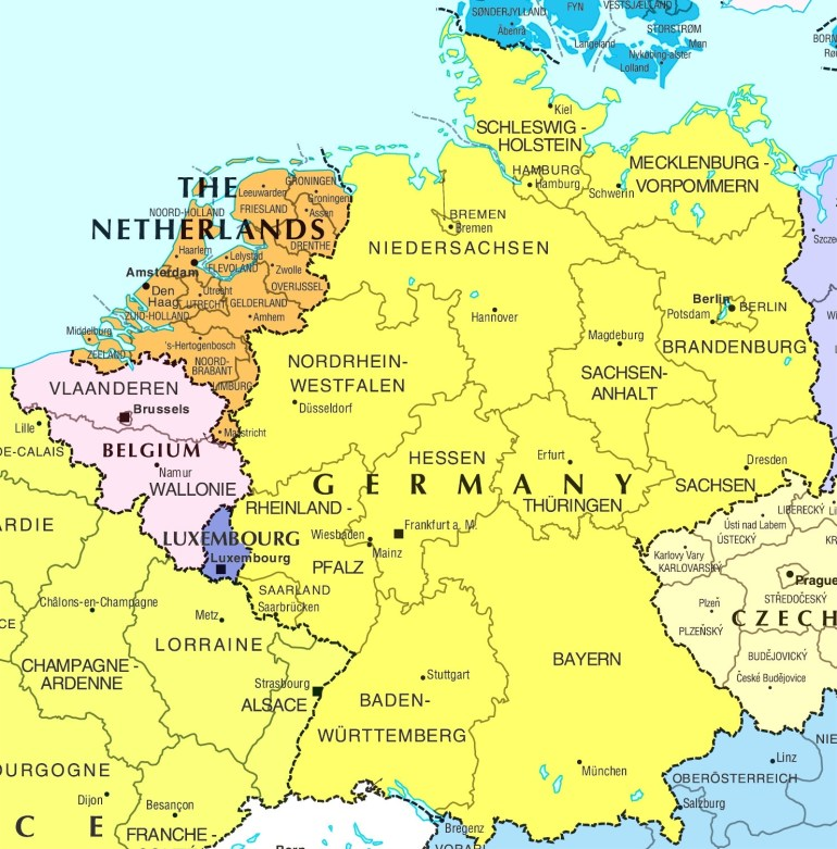 Map Of Germany And France | Sksinternational throughout Map Of Germany And France Together