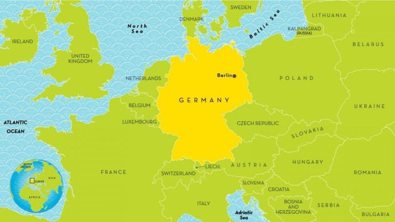 Map Of Germany And Surrounding Countries - Germany And Surrounding intended for Map Of Countries Surrounding Germany