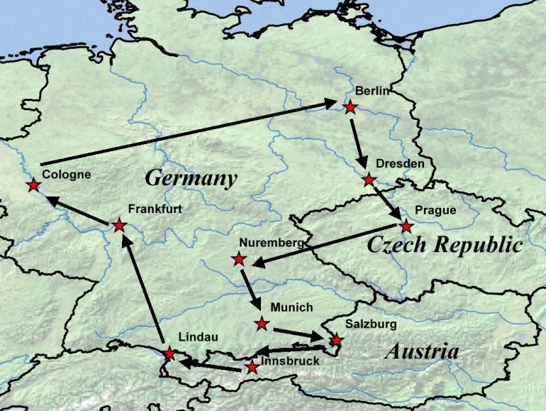 Map Of Germany Czech Republic And Austria | Download Them And Print intended for Map Of Germany Austria And Czech Republic
