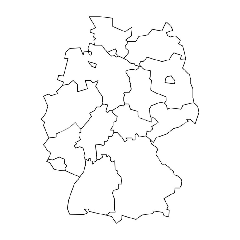 Map Of Germany Devided To 13 Federal States And 3 City-States regarding Blank Map Of Germany With States