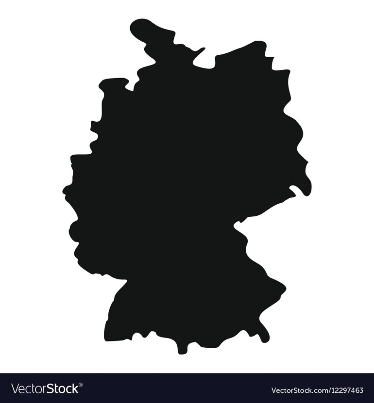 Map Of Germany Icon Simple Style intended for Germany Map Vector Free Download