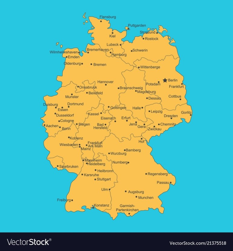 Map Of Germany On Blue Background regarding Germany Map High Resolution