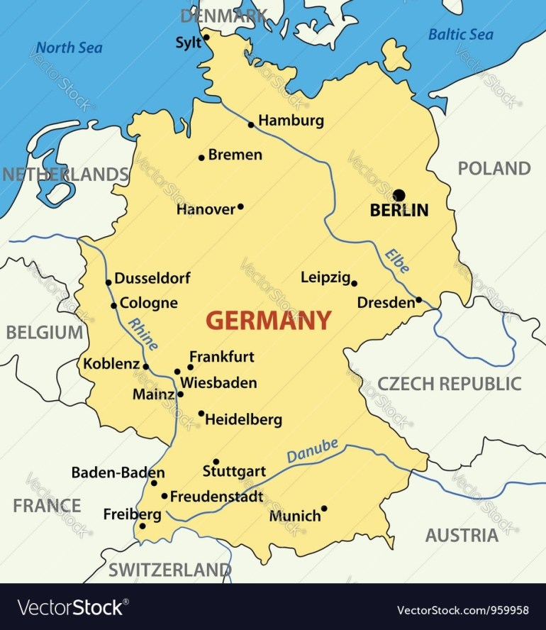Map Of Germany Vector Image pertaining to Dresden Germany Map