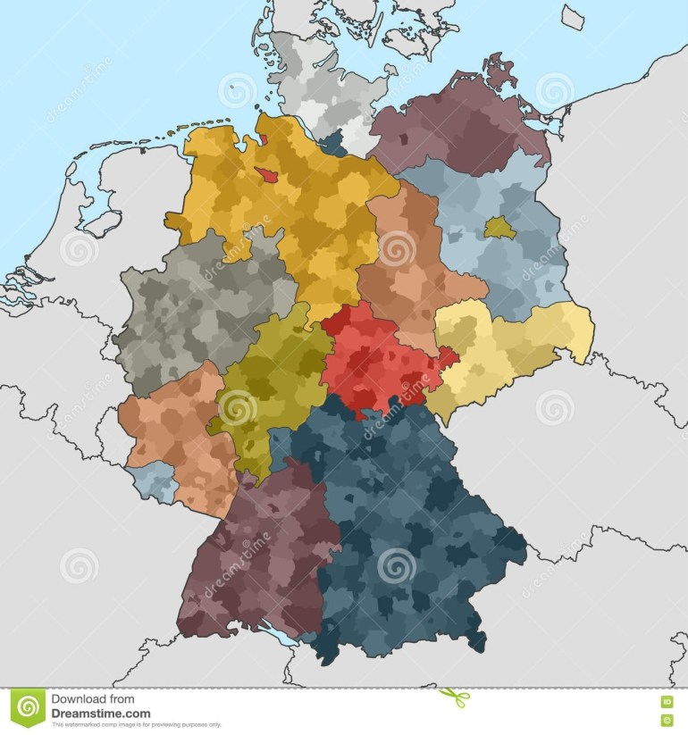 Map Of Germany With Neighboring Countries Stock Vector pertaining to Map Germany Neighboring Countries
