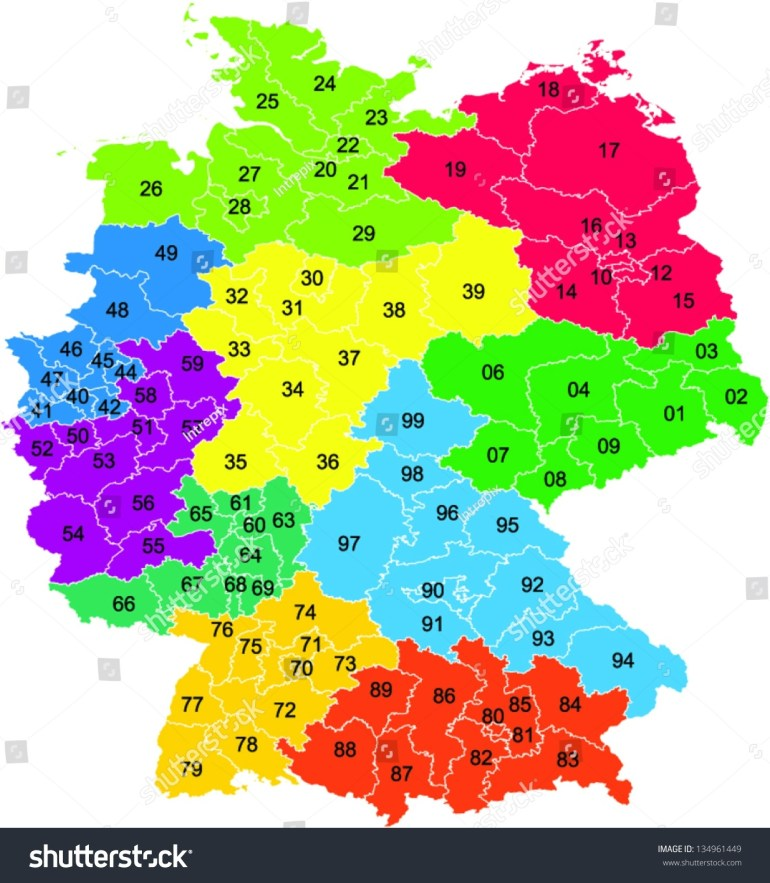 Map Of Germany Zip Codes | Twitterleesclub for Germany Map Postal Codes