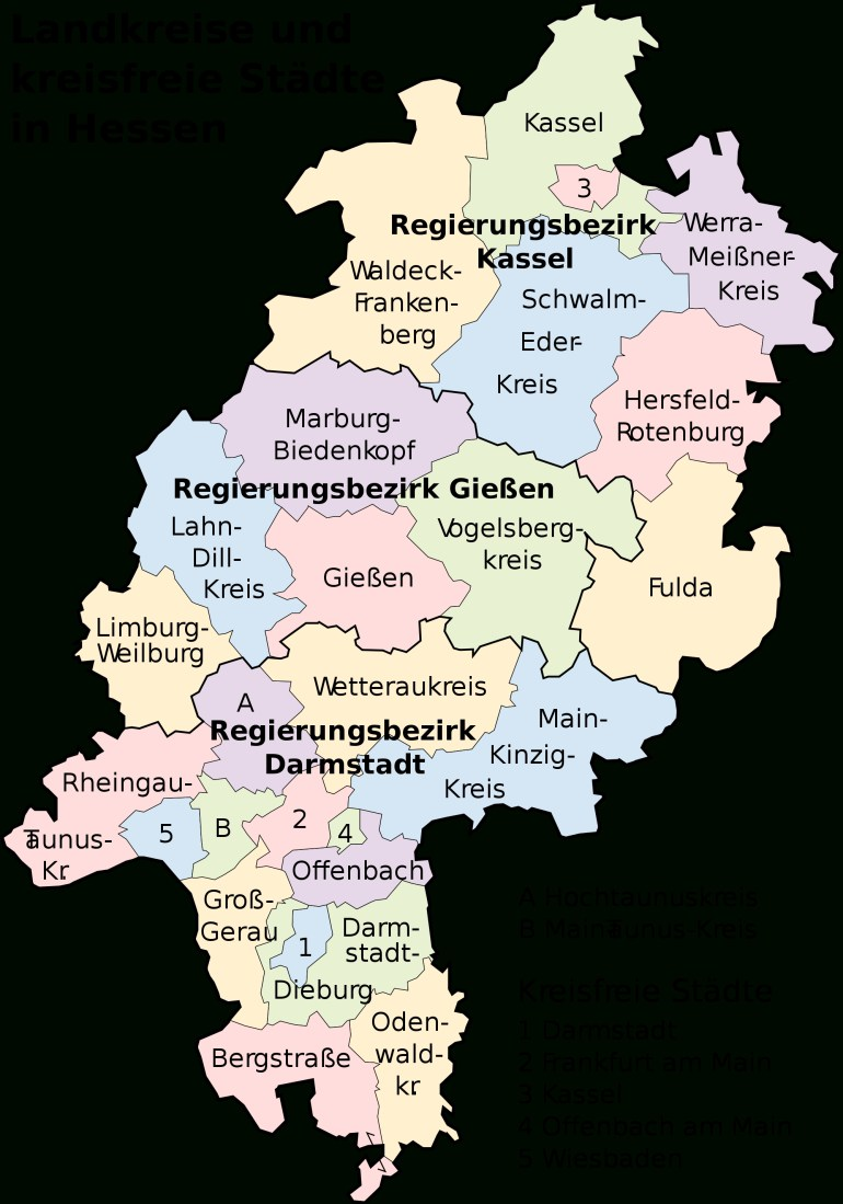 Map Of Hesse 2008 - Full Size   Gifex with regard to Kassel Hessen Germany Map