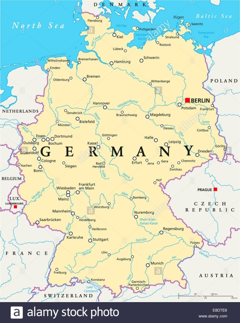Map Of Rivers In Germany - Lgq in German Rivers Map