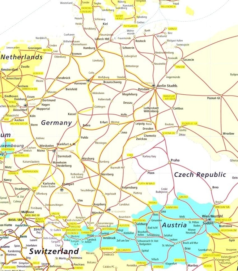 Map Of Southern Germany And Switzerland - World Map for Germany Austria Switzerland Map