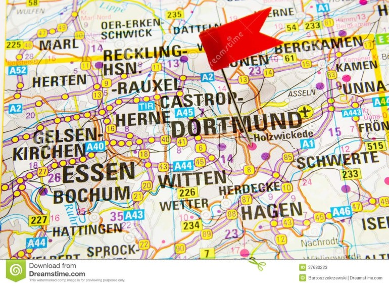 Map Of The Selected City Dortmund, Germany Stock Image - Image Of within Dortmund Germany Map