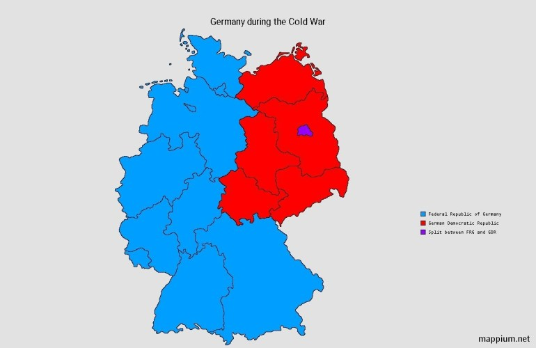 """Mappium Maps On Twitter: """"german States During The Cold War #maps for Map Of Germany During Cold War"""