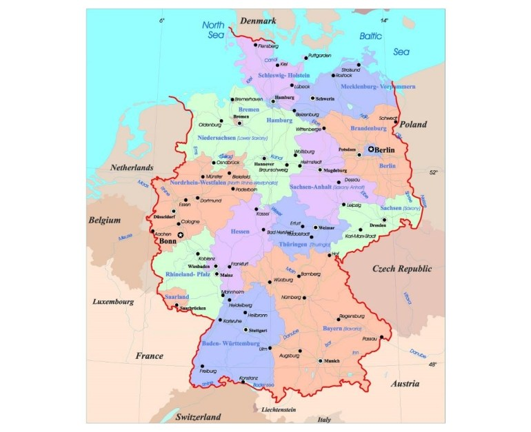 Maps Of Germany | Collection Of Maps Of Germany | Europe | Mapsland for Detailed Map Of Germany And Austria