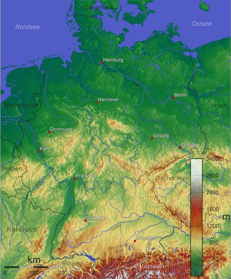 Maps Of Germany | Detailed Map Of Germany In English | Tourist Map inside Physical Map Of Germany In English
