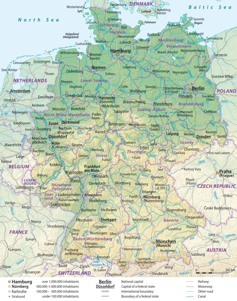 Maps Of Germany | Detailed Map Of Germany In English | Tourist Map with regard to Map Of Germany With Cities In English