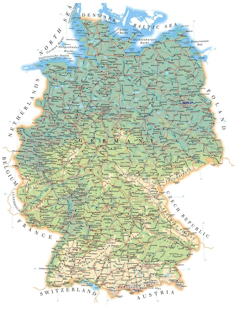 Maps Of Germany | Detailed Map Of Germany In English | Tourist Map with regard to Road Map Of Germany In English