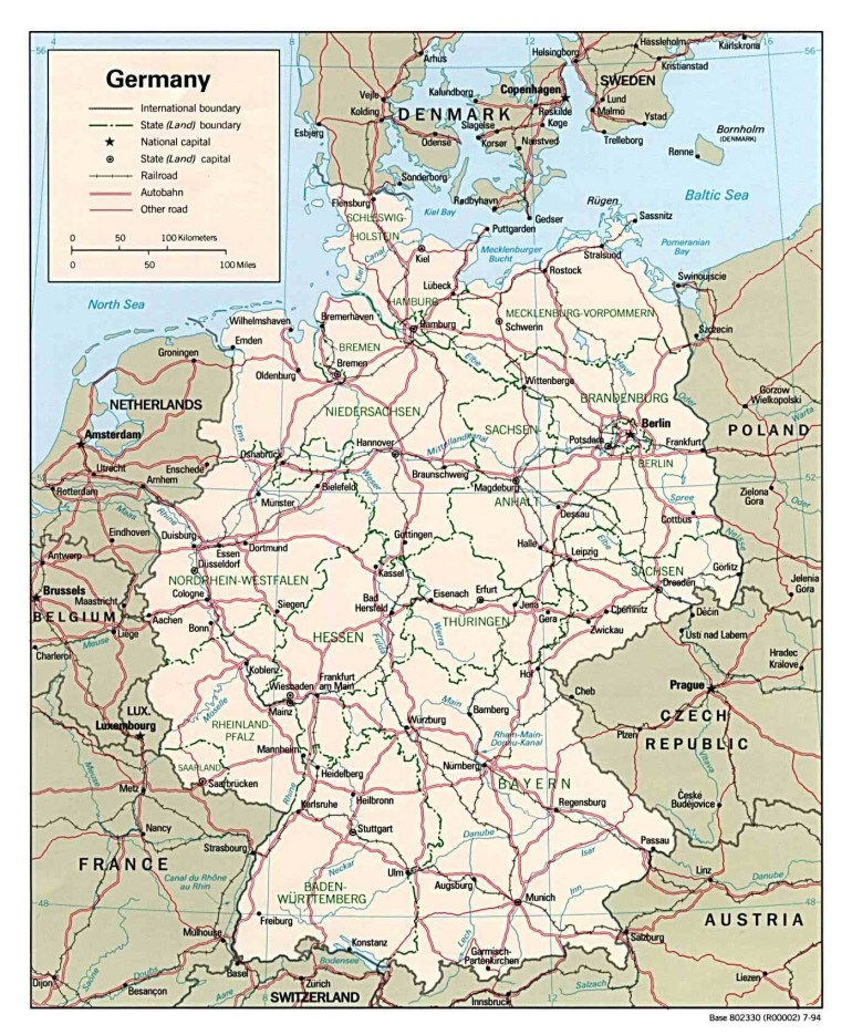 Maps Of Germany | Detailed Map Of Germany In English | Tourist Map with Road Map Of Germany In English