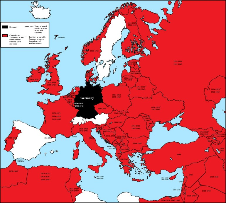 Maps On The Web — All European Countries Ever At War With Germany with regard to German Maps And Facts For Genealogy
