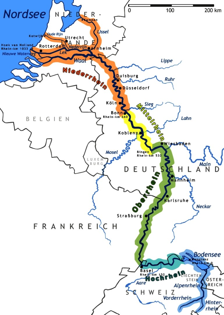 Middle Rhine - Wikipedia intended for Rhine Valley Germany Map