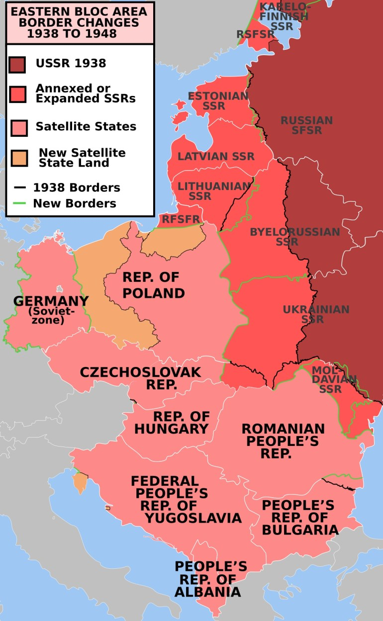 Military Occupationsthe Soviet Union - Wikipedia throughout Map Of Germany During Cold War